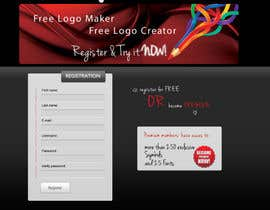 #25 untuk Sign Up page for Online Logo Maker oleh jasminkamitrovic