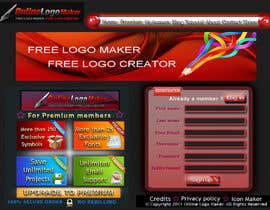 #27 para Sign Up page for Online Logo Maker de walkingassassin