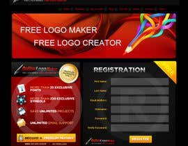 #22 para Sign Up page for Online Logo Maker de RockPumpkin