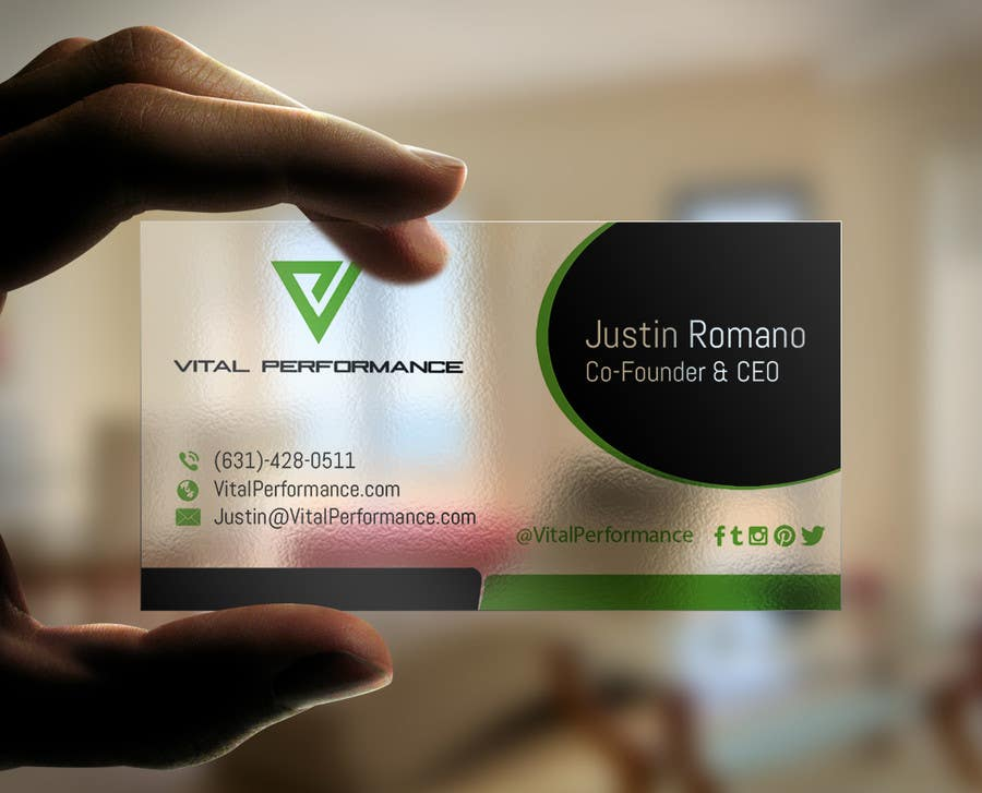 Kilpailutyö #61 kilpailussa Design some Business Cards for Vital Performance