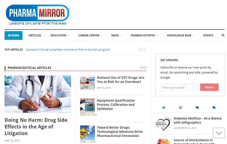 Bài tham dự cuộc thi #29 cho Design a Logo for a pharmaceutical related blog!