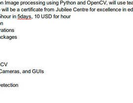 #1 for Can you teach me OpenCV with Python? by mohammadomar82