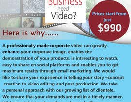 #14 for Design a Flyer for production of Corporate Video af rajath656