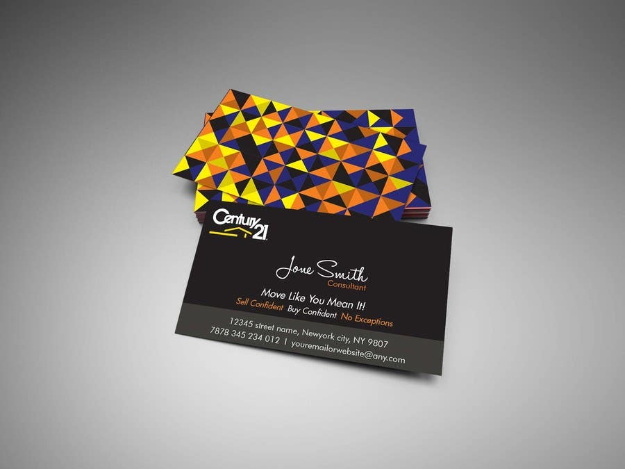 Entry 57 by hebahigazy for design a dynamic and modern business contest entry 57 for design a dynamic and modern business cards for a real estate reheart Images
