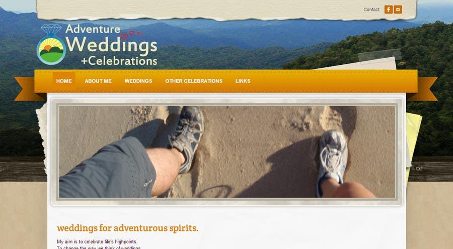 Penyertaan Peraduan #21 untuk Design a Logo for Adventure Weddings