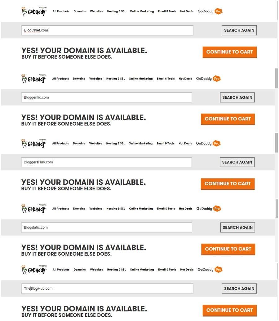 "Penyertaan Peraduan #179 untuk Find a Name for my blog about ""Blogging""!"