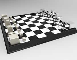 #60 para Photo Realistic 3D Rendering of a minimalistic chess board on top of a surface. por zohaairshad