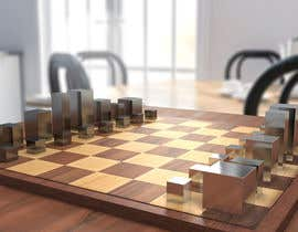 #44 para Photo Realistic 3D Rendering of a minimalistic chess board on top of a surface. por shubhrajyotiray