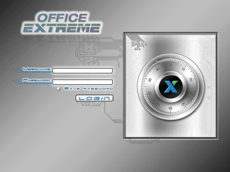 Bài tham dự cuộc thi #                                        6                                      cho                                         Design a Login Screen Mockup for OfficeExtreme.com