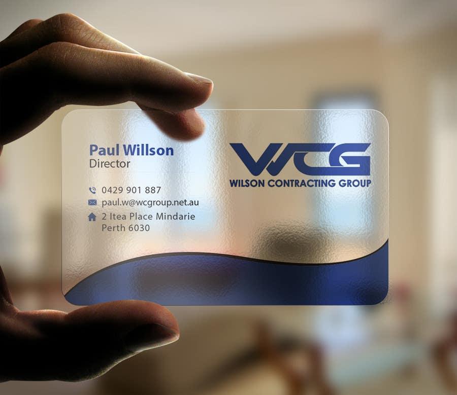 Kilpailutyö #77 kilpailussa Design some Business Cards for WCG
