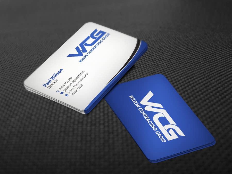 Kilpailutyö #83 kilpailussa Design some Business Cards for WCG
