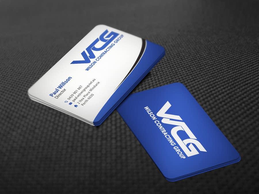 Kilpailutyö #88 kilpailussa Design some Business Cards for WCG