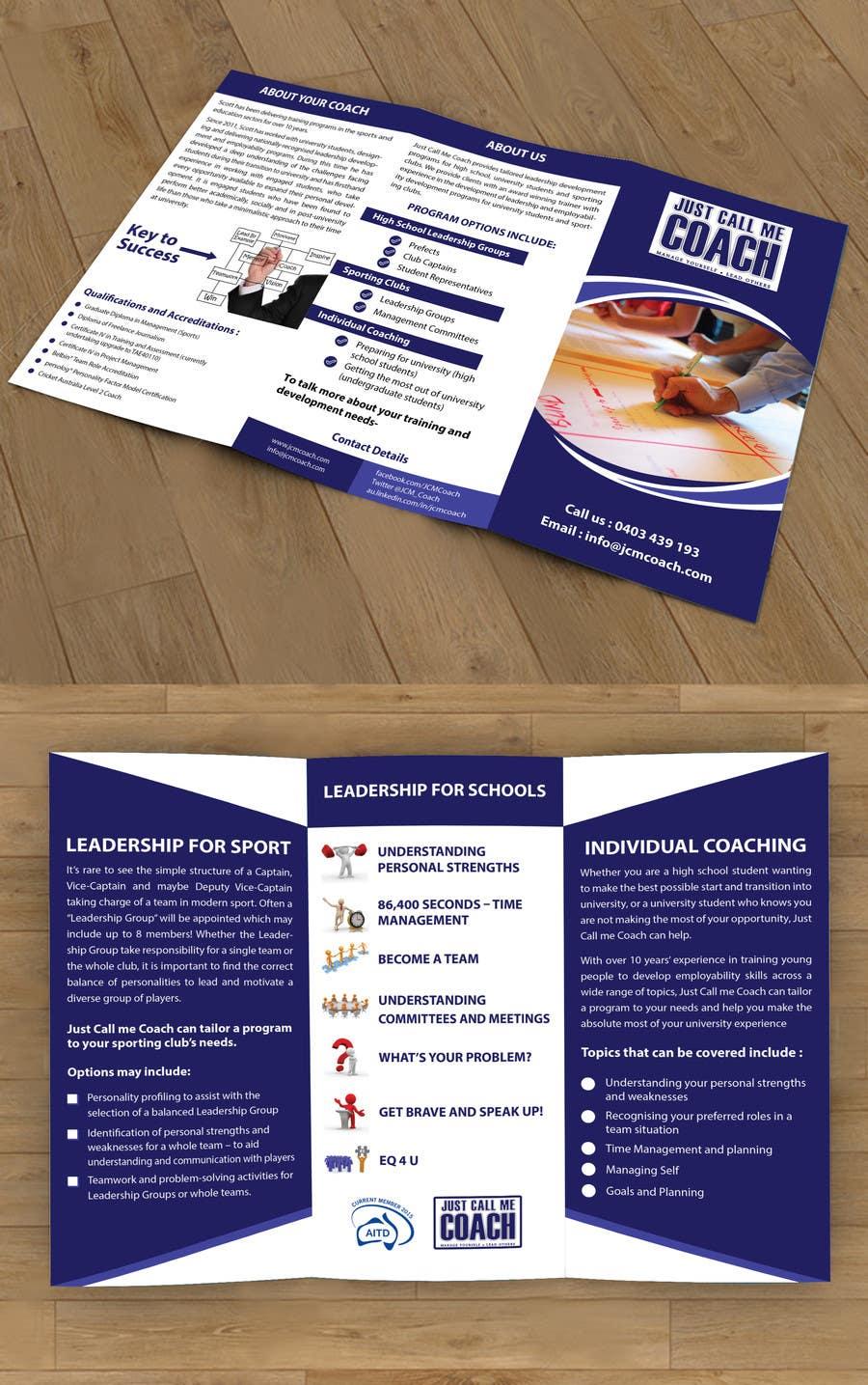 Kilpailutyö #18 kilpailussa Design a Brochure for Just Call me Coach