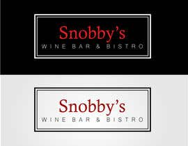 #76 untuk Design a Logo for Snobby's Wine Bar and Bistro oleh stoilova