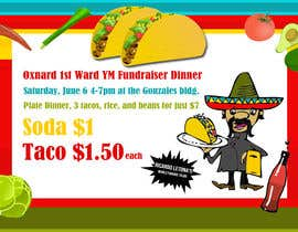 #4 for Design a Flyer for a taco fundraiser dinner by Estenio7