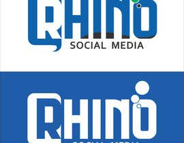 #44 for Design a Logo for - Rhino Social Media by mishrapeekay