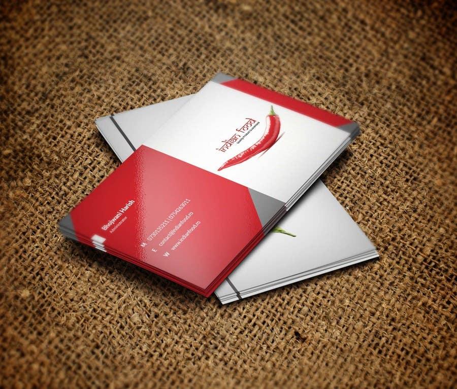 Kilpailutyö #48 kilpailussa Design some Business Cards for www.indianfood.ro