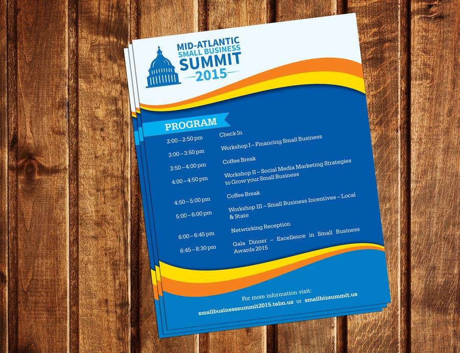 Kilpailutyö #18 kilpailussa Design a Flyer for Business Summit Event