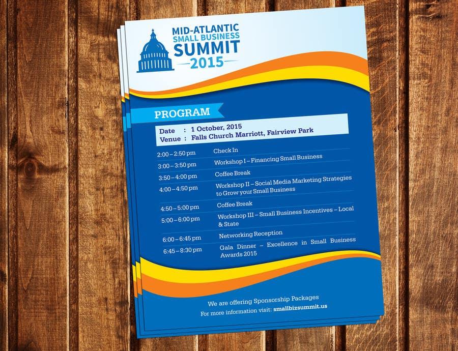 Kilpailutyö #19 kilpailussa Design a Flyer for Business Summit Event