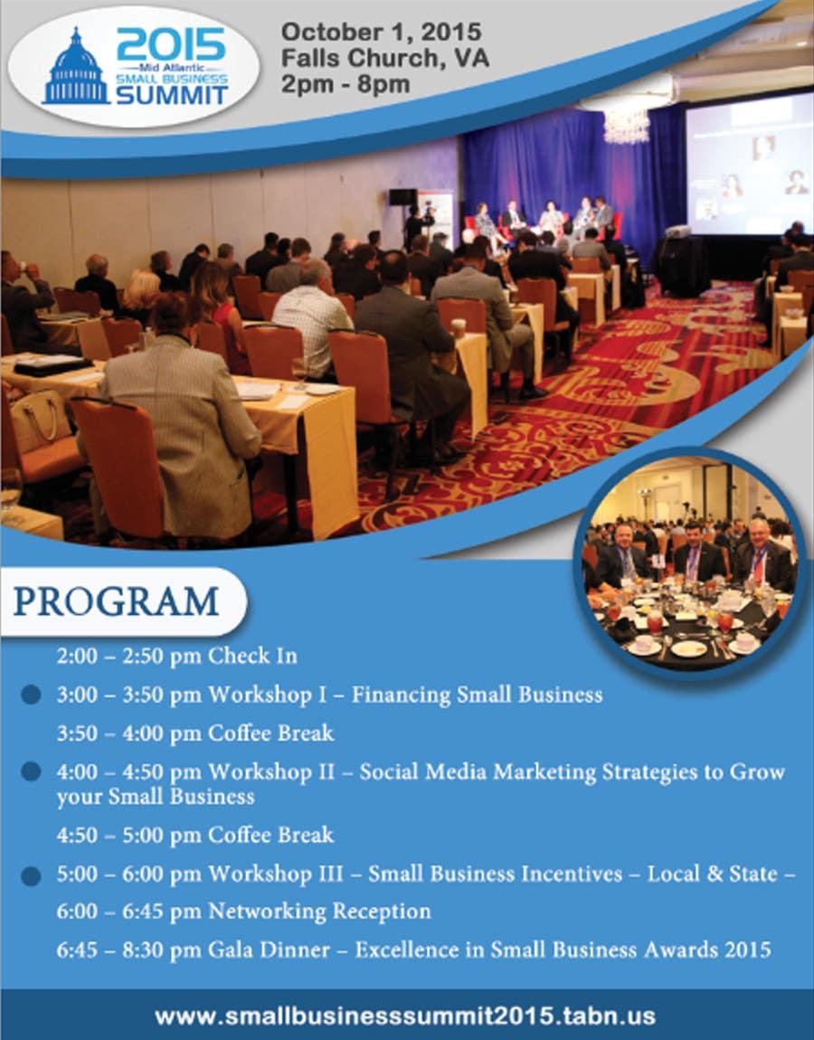 Kilpailutyö #12 kilpailussa Design a Flyer for Business Summit Event