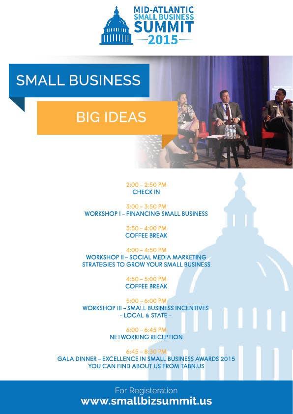 Kilpailutyö #21 kilpailussa Design a Flyer for Business Summit Event