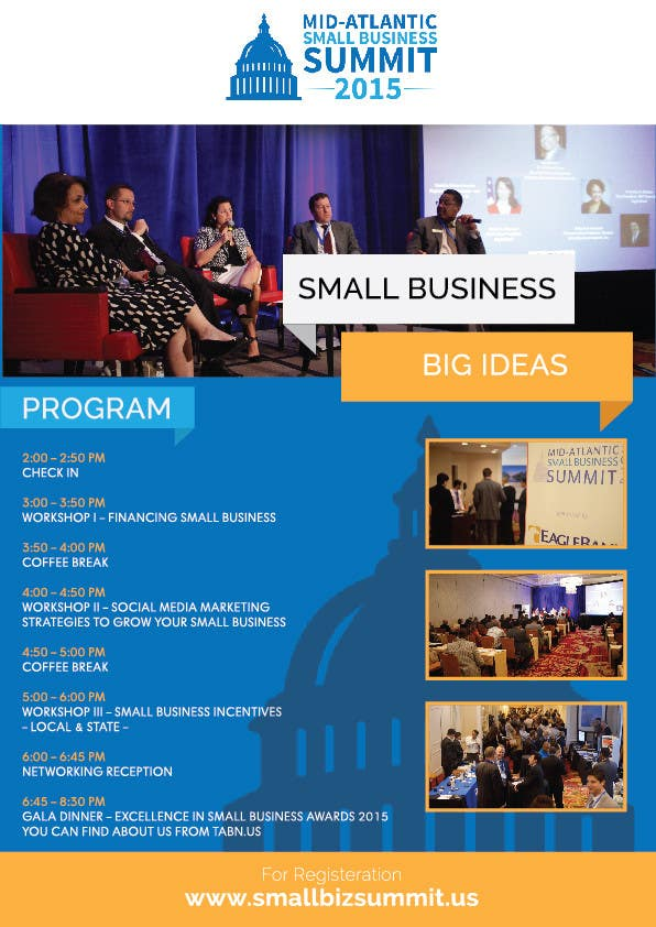 Kilpailutyö #25 kilpailussa Design a Flyer for Business Summit Event