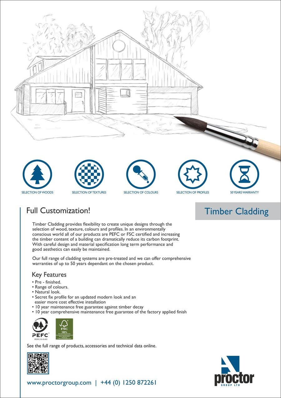 #1 for Design an Advertisement for Timber Cladding by F5DesignStudio