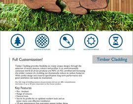 #34 untuk Design an Advertisement for Timber Cladding oleh F5DesignStudio