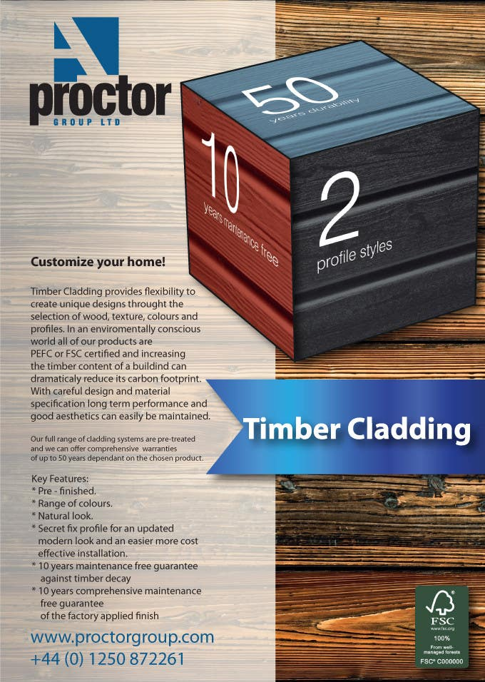 #39 for Design an Advertisement for Timber Cladding by Aleshander