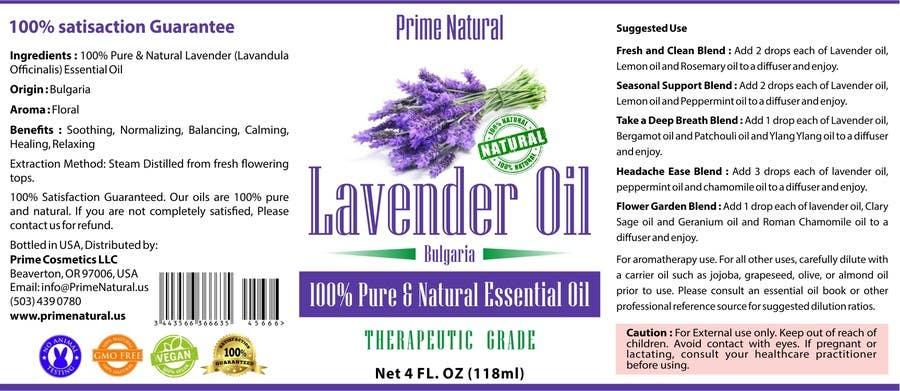 Inscrição nº 59 do Concurso para Design Product Label & refine existing logo: Essential Oil Bottle label