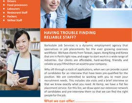 #11 cho Design a Brochure for my employment agency bởi ezesol