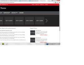 Nro 1 kilpailuun Design a home page for a website. käyttäjältä jeetdesai