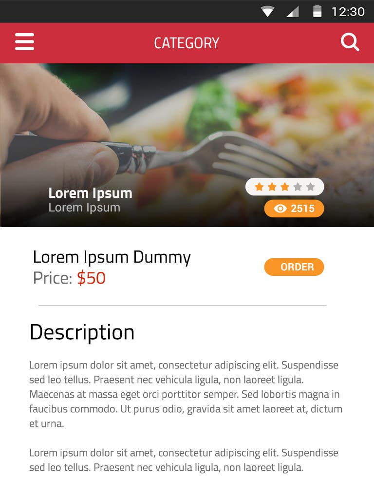 restaurant menu design app