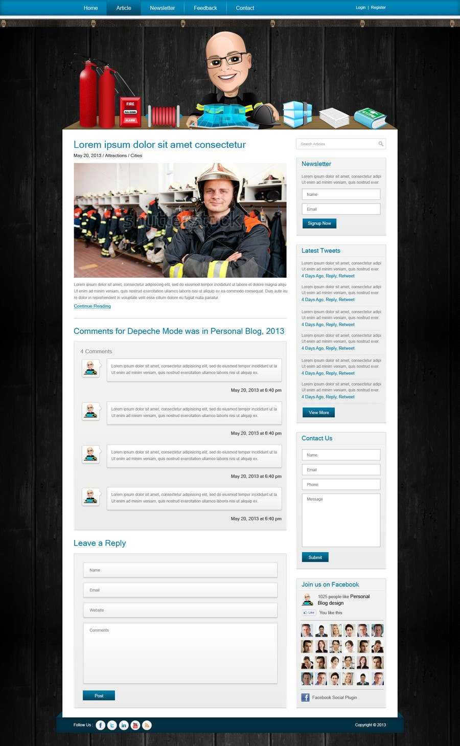 #34 for Personal blog design by nitinatom