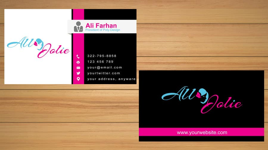 Entry 7 By Farhanali858 For Design Some Business Cards For My Hair
