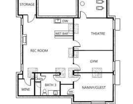 #3 para Home Floorplan Sketch for brochure por sinojos1