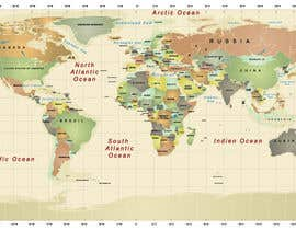 #12 cho Map of the world or map of the USA bởi fetra08