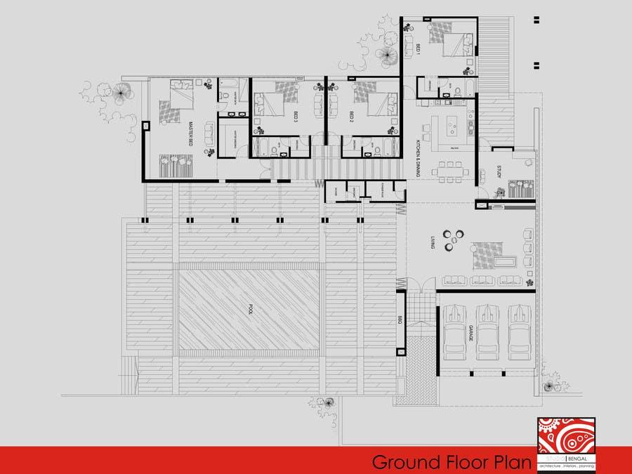 Penyertaan Peraduan #22 untuk Luxury Residential Home Design (Concept)