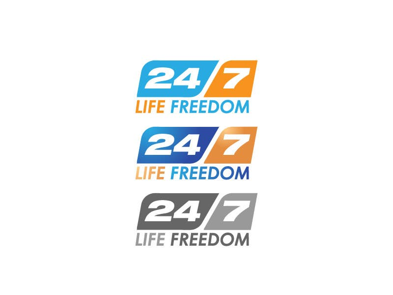 "Kilpailutyö #65 kilpailussa Design a Logo for ""24/7 Life Freedom"""