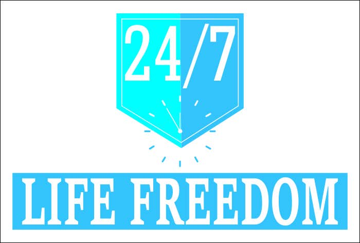 "Kilpailutyö #56 kilpailussa Design a Logo for ""24/7 Life Freedom"""
