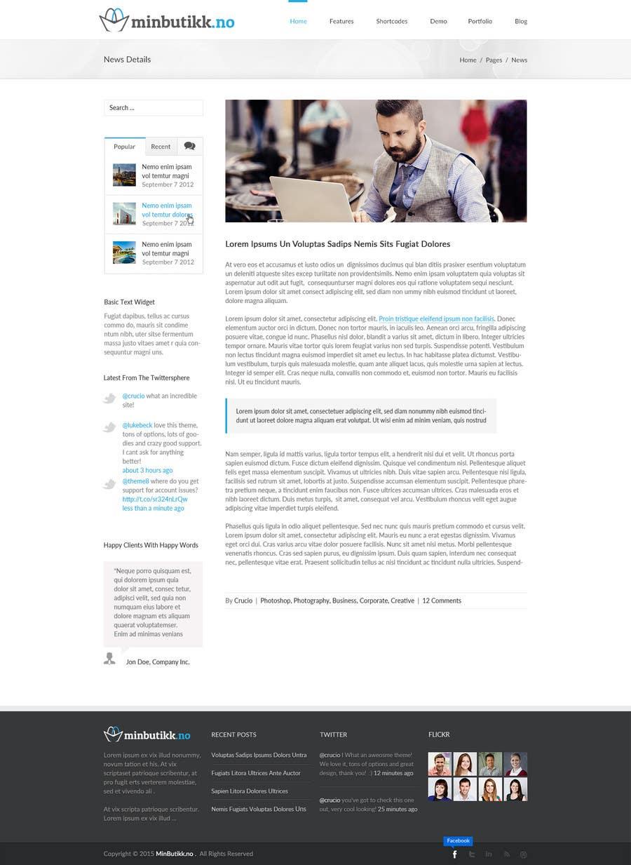 Konkurrenceindlæg #18 for Design for website (front+subpage)