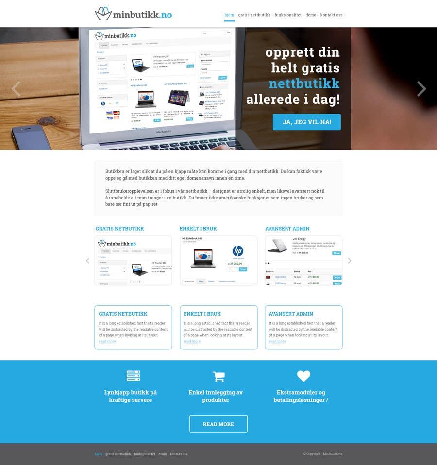 Konkurrenceindlæg #8 for Design for website (front+subpage)