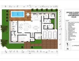 #62 for Floorplan for modern contemporary house by cveki