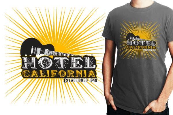 Entri Kontes #                                        106                                      untuk                                        Vintage T-shirt Design for HOTEL CALIFORNIA