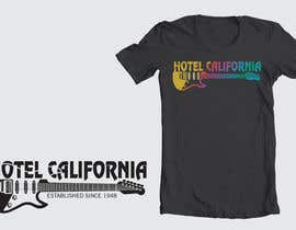 nº 81 pour Vintage T-shirt Design for HOTEL CALIFORNIA par dyeth
