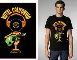 #88 pentru Vintage T-shirt Design for HOTEL CALIFORNIA de către outlinedesign