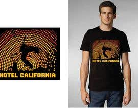 #69 para Vintage T-shirt Design for HOTEL CALIFORNIA por outlinedesign