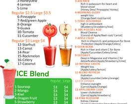 #12 para Design a menu for a juice stall por LampangITPlus