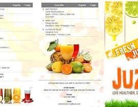 #2 para Design a menu for a juice stall por ABARRANCO