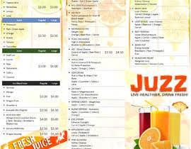 #11 para Design a menu for a juice stall por ABARRANCO